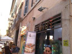 スペイン広場のそばにあるpompi。 ティラミスで有名ですね。