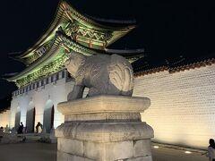 到着。 景福宮、光化門です。