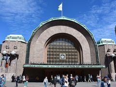 <ヘルシンキ中央駅>  12:25 いい天気! 薄い長袖1枚でちょうどいいくらい!  集合時間まで3時間! それでは移動開始!