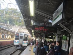 08:45 高尾駅で小淵沢行に乗換 ここまで乗換え順調で、予定通りの電車に乗れました