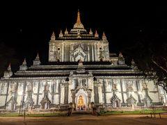 続いては、バガンで1番高いタビニュ寺院の後ろ側。高さ61m。