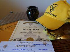 こちらは搭乗証明書やチケット、記念品などです。バガンの気球料金は安くありませんが、満足度は高いと思います(私が利用したのは、ゴールデンイーグルのプレミアムコースでした)。