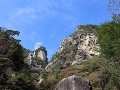 名所、天狗岩。このあたりが昇仙峡で一番の絶景スポット。