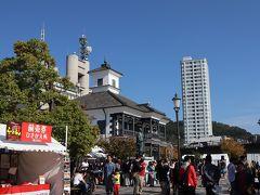 甲府駅に到着。北口の広場。ラーメンのイベントをやっていました。