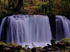 奥入瀬渓流散策。 子ノ口から入ると直ぐに見えるのが「銚子大滝」 手振れしないように構えての撮影。