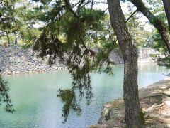 さて高松に到着です。 まずはお城のお堀をぶらぶら。  鯛がかわいいんです。 この高松城、海の近くにあるだけあって、お堀の水がなんと海水。なので、海のいきものがいっぱいおります。