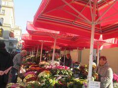 イエラチッチ広場付近には青空市場のお店が所狭しと並んでいました。