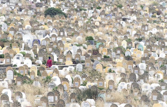 自由時間にウロウロして、被写体を見つけるのも楽しいです。<br />ラバトでの最高の被写体は墓場の赤シャツの男!<br /><br />とあるコンクールで賞をいただいた1枚です。
