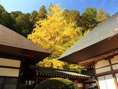 10:20  常楽寺(じょうらくじ)  上田の紅葉は見頃に入ったところ。   入山料 100円 駐車場 無料