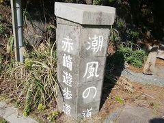 車で赤崎遊歩道に行きます。
