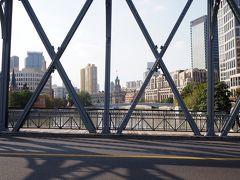 外白渡橋へ。このあとちょっとだけバンドを散歩しオバちゃんとバイバイ。