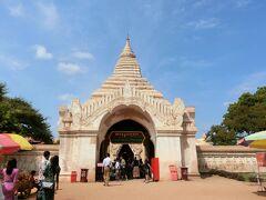 ⑤Ananda Temple アーナンダ寺院 1090年 Kyansitthar(チャンスィッター)王がインドの僧侶の助言を受けヒマラヤの窟院を模して建設された寺院。
