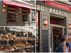"""ヌーヴ・サン・ジャン広場に面するパン屋さん""""Boulangerie Du Palais""""に入りました。 リヨン名物の""""プラリーヌ""""入りのパンも並んでいます。  良さげな店なのに、バイトらしき女の子の感じが悪いのなんの。(><) お客につんけんしまくってました。 なんだってそんなに機嫌が悪いワケ…?"""