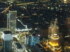 台北101の展望台から、夕陽だけではなくて、夜景まで見ることができました!
