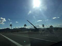 ユマ米陸軍試験場前をドライブ