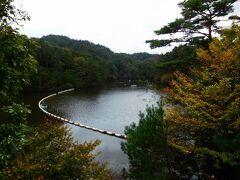 渓谷の一番上にある通天湖(つうてんこ)。ダム湖。