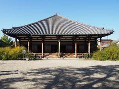 ならまちの方に移動して、元興寺。 こちらも国宝で世界遺産です。 仏像とかではなく、建物自体が国宝で、瓦などの研究が展示してありました。