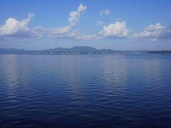 天気に恵まれ、宍道湖も綺麗に見えました。