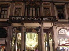 世界一美しいと言われるグランプラスの夜景を堪能したので、ホテルに戻る道すがらギャルリーサンチュベールへ。