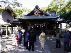 高城神社 七五三のお参りをしていました。