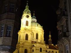 St. Nicholas Church Kostel sv. Mikuláše  マラーストラナにある聖ミクラーシュ教会と鐘楼。ライトアップされて綺麗です。 (あえてこう書くのは、旧市街広場に面して似た名前の教会があるので。)