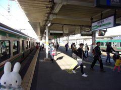 郡山から車窓を楽しんで1時間ちょっとで会津若松に到着です。