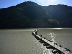11月17日奥多摩湖ドラム缶橋