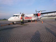 3日目は国内線でペナン島へ日帰り旅です。 クアラルンプールの西にある、スルタン・アブドゥル・アジズ・シャー空港からペナン島へ 8:20発 1時間のフライトでペナン空港へ到着です。
