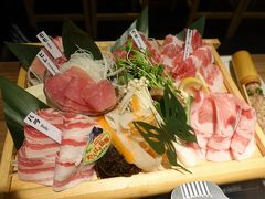 ちょっと贅沢に琉球在来種「あぐー」の一頭盛り。