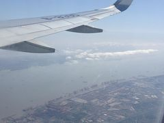 上海の浦東地区上空にさしかかりました。