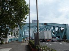 更に奥州街道を北へ。 千住大橋に向かいます。
