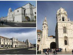 世界遺産のジェロニモス修道院。教会の入口は列ができている? とりあえず、こちらは後回しにして発見のモニュメント、ベレンの塔に向かいます