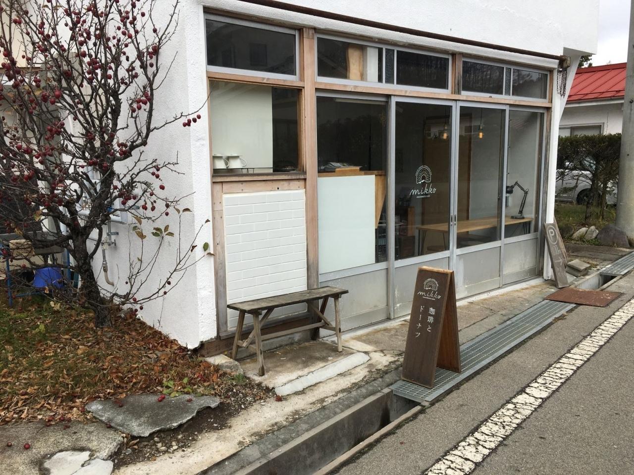 研修の前に、もう一軒!今度はドーナツ(^^) 小海線の海瀬駅で、mikkoドーナツ!