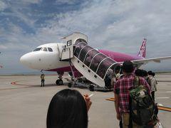 ●MM143便@関西空港  新潟へは、ピーチで飛びます。 安くて助かるぅ! ピーチは、年に何度も利用しています。