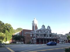 レンガ造りの消防署