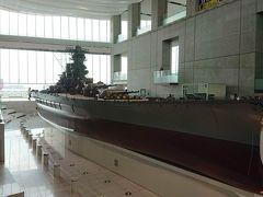 そして大和ミュージアムといえば戦艦大和の10分の1スケール模型 カッコよかなー みんな写真撮りまくってました