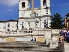 トリニタ・デイ・モンティ教会~スペイン広場>スペイン階段