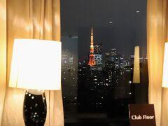15階エレベーターホールより東京タワー。