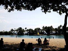 パラワンビーチ前で園内バスを下車。