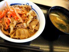 途中牛丼を食べました。(松屋柏崎店  https://pkg.navitime.co.jp/matsuyafoods/spot/detail?code=0000000652 )