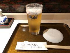 温泉をキメたら夕食へ。  お店は一八寿司。