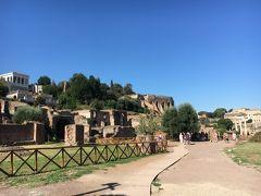 1時間ぐらいコロッセオ観光を堪能したあとはフォロロマーノへ!こちらは映画「ローマの休日」でのロケ地としても有名ですね。とにかく広い。