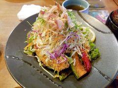 最初は大野エリア。 うおまさカフェの名物「醤油SK(鯖カツ丼)」!