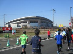 17Km地点 埼玉スタジアム2002です。ここは、日韓サッカーワールドカップの開幕試合会場です。