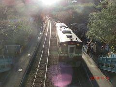 憧れのわたらせ渓谷鉄道です。 神戸駅に列車が入ってきました。 1輌編成です。