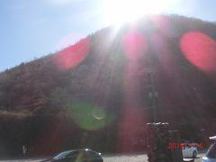 鳥居峠からは赤城山もすぐそこに見えます。 赤城山は外輪山の総称で、見えているのは地蔵岳です。 2番目に高い駒ヶ岳は地蔵岳の反対側、鳥居峠からは右側、 正面の覚満淵の右手に見えます。 カルデラ湖の大沼には最初に行きました。