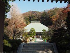 浄妙寺 山門から望む本堂 11:12頃  鎌倉五山第五位の臨済宗寺院。 境内参道の工事中でここから入ることはできませんでした。 (右に迂回し、臨時の入口へ)