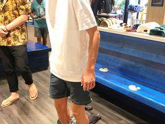 食べたので歩かないと!  息子がアイランドスリッパーで試し中 店員さんに明日のブラックフライデー情報聞くと セールになりそうな雰囲気だったのでいったん保留に 店員さん、ごめんなさい