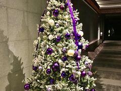 ホテルに戻ります。 フロントロビーにはクリスマスツリー。  落ち着いた色合いがホテルにマッチしてるね。