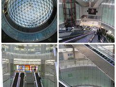 緑莎坪駅(ノッサピョン)は1Fが地上階、エスカレーター、エレベーターで下へ降りてB4が改札階です。